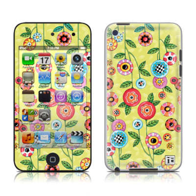 iPod Touch 4G Skin - Button Flowers