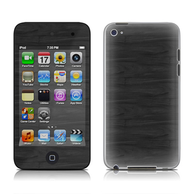 iPod Touch 4G Skin - Black Woodgrain