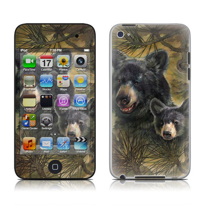iPod Touch 4G Skin - Black Bears