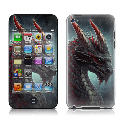 iPod Touch 4G Skin - Black Dragon
