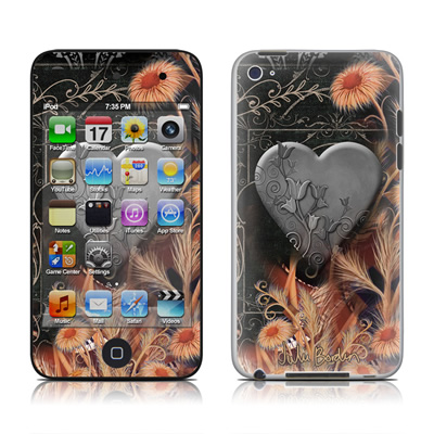 iPod Touch 4G Skin - Black Lace Flower