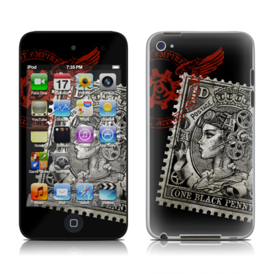 iPod Touch 4G Skin - Black Penny