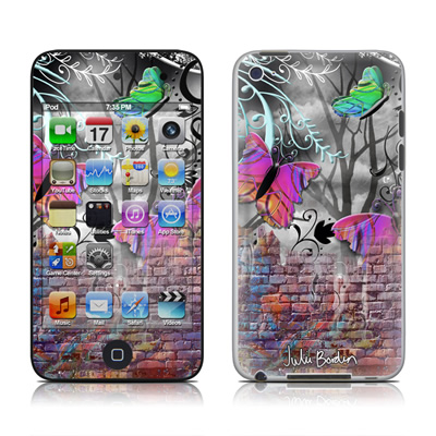 iPod Touch 4G Skin - Butterfly Wall