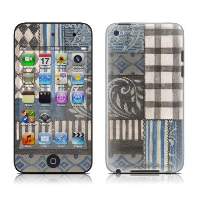 iPod Touch 4G Skin - Country Chic Blue