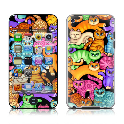 iPod Touch 4G Skin - Colorful Kittens