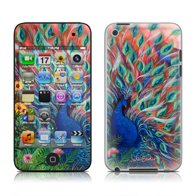 iPod Touch 4G Skin - Coral Peacock