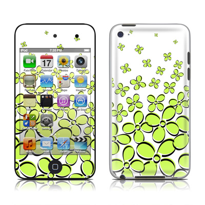 iPod Touch 4G Skin - Daisy Field - Green