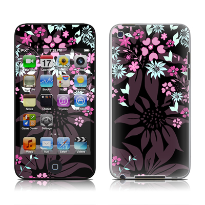 iPod Touch 4G Skin - Dark Flowers