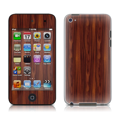 iPod Touch 4G Skin - Dark Rosewood