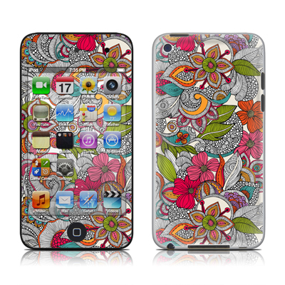 iPod Touch 4G Skin - Doodles Color
