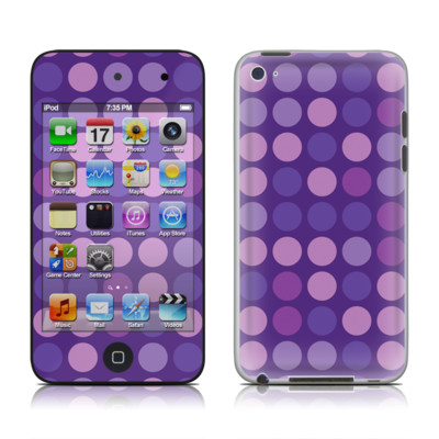 iPod Touch 4G Skin - Big Dots Purple