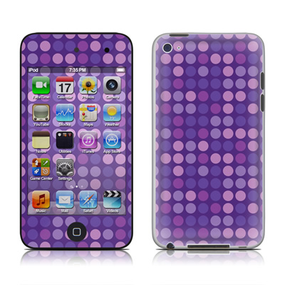 iPod Touch 4G Skin - Dots Purple