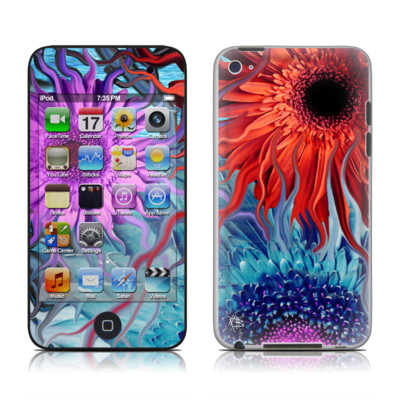 iPod Touch 4G Skin - Deep Water Daisy Dance