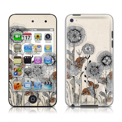 iPod Touch 4G Skin - Four Flowers