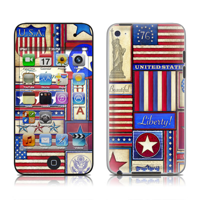 iPod Touch 4G Skin - Flag Patchwork