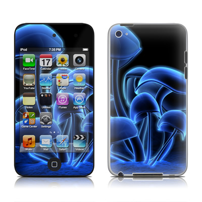 iPod Touch 4G Skin - Fluorescence Blue