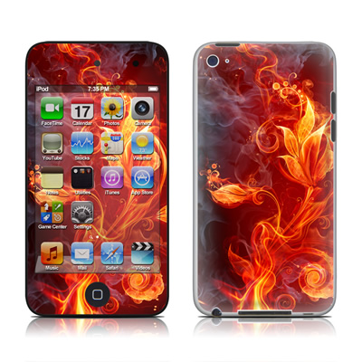 iPod Touch 4G Skin - Flower Of Fire