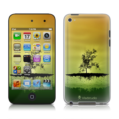 iPod Touch 4G Skin - Flying Tree Amber