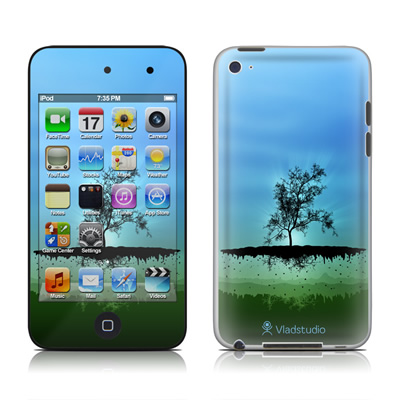 iPod Touch 4G Skin - Flying Tree Blue
