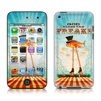 iPod Touch 4G Skin - God Bless The Freaks