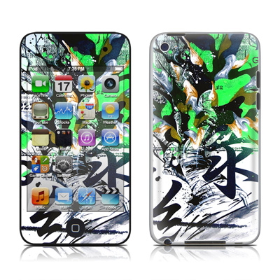 iPod Touch 4G Skin - Green 1