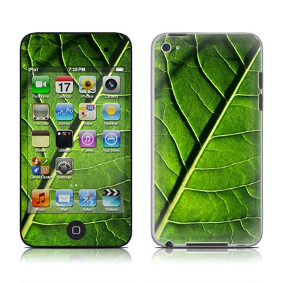 iPod Touch 4G Skin - Green Leaf