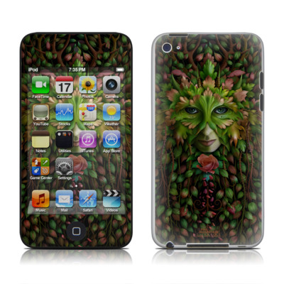 iPod Touch 4G Skin - Green Woman