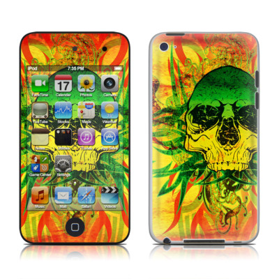 iPod Touch 4G Skin - Hot Tribal Skull