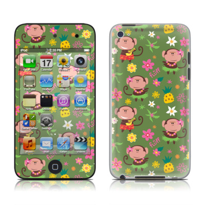 iPod Touch 4G Skin - Hula Monkeys