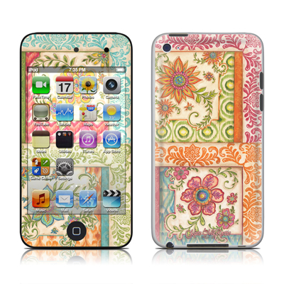 iPod Touch 4G Skin - Ikat Floral