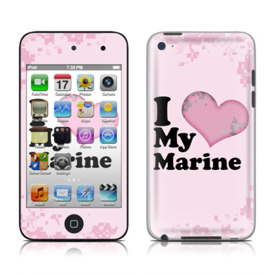 iPod Touch 4G Skin - I Love My Marine