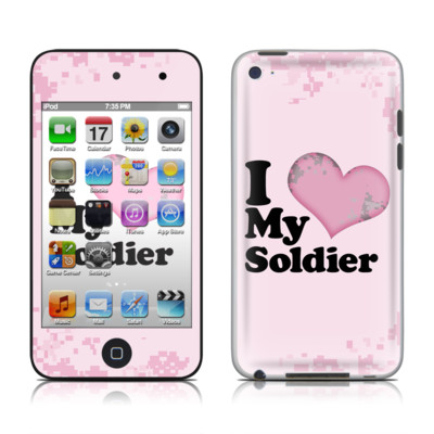 iPod Touch 4G Skin - I Love My Soldier