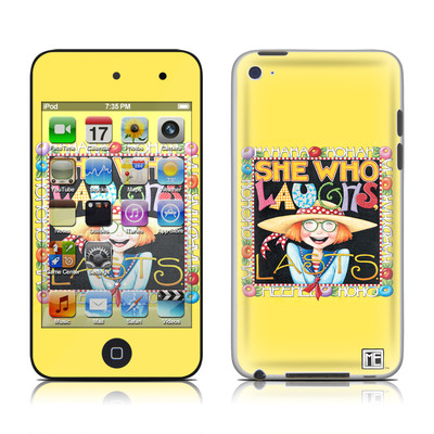 iPod Touch 4G Skin - She Who Laughs
