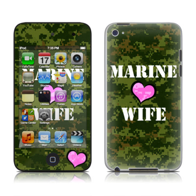 iPod Touch 4G Skin - Marine Wife