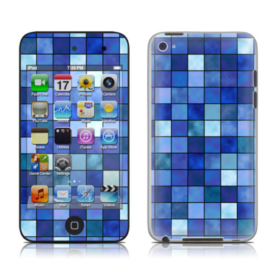 iPod Touch 4G Skin - Blue Mosaic