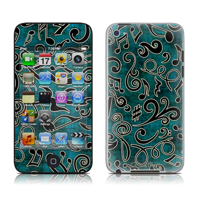 iPod Touch 4G Skin - Music Notes