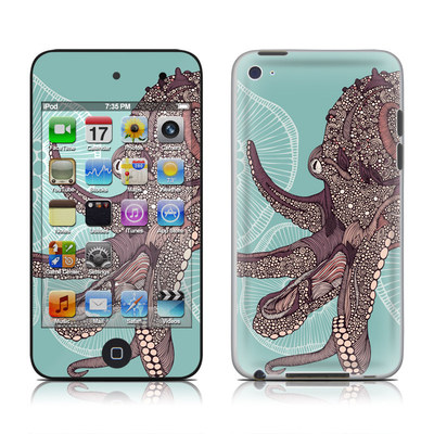 iPod Touch 4G Skin - Octopus Bloom