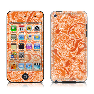 iPod Touch 4G Skin - Paisley In Orange