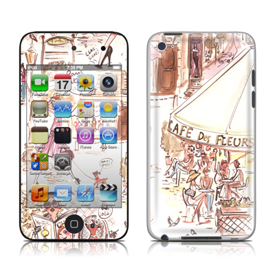 iPod Touch 4G Skin - Paris Makes Me Happy