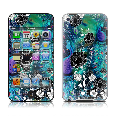 iPod Touch 4G Skin - Peacock Garden