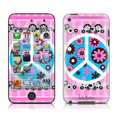 iPod Touch 4G Skin - Peace Flowers Pink