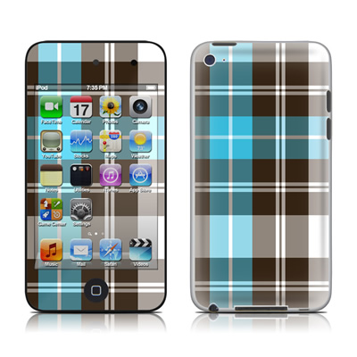 iPod Touch 4G Skin - Turquoise Plaid
