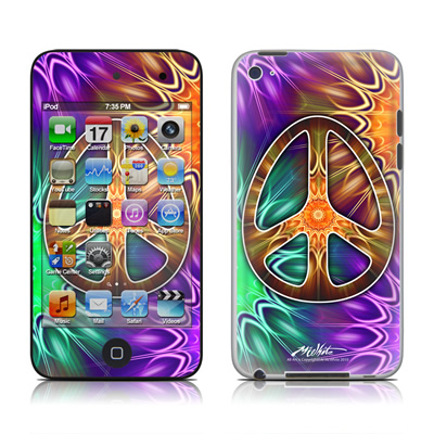 iPod Touch 4G Skin - Peace Triptik