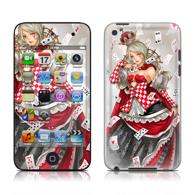 iPod Touch 4G Skin - Queen Of Cards