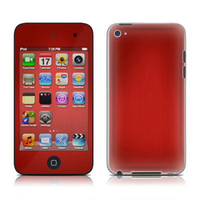 iPod Touch 4G Skin - Red Burst