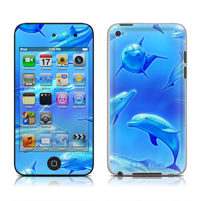 iPod Touch 4G Skin - Swimming Dolphins