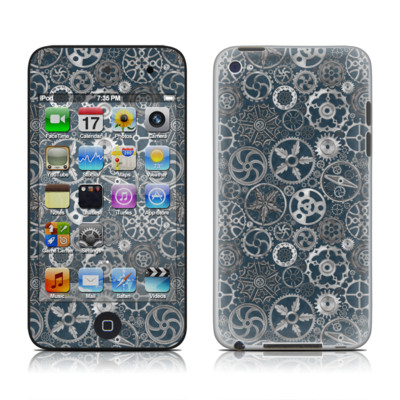 iPod Touch 4G Skin - Silver Gears