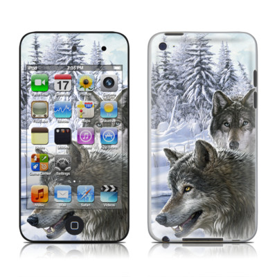 iPod Touch 4G Skin - Snow Wolves