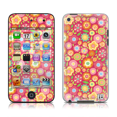 iPod Touch 4G Skin - Flowers Squished