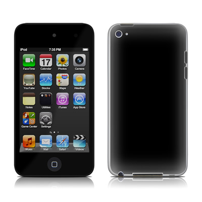 iPod Touch 4G Skin - Solid State Black